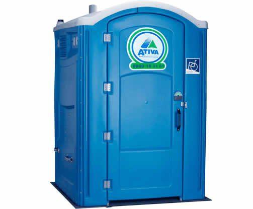 imagem meramente ilustrativa: Toalete Portátil PcD