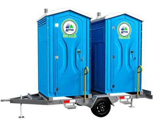 imagem meramente ilustrativa: Carretinha para Toaletes Portáteis