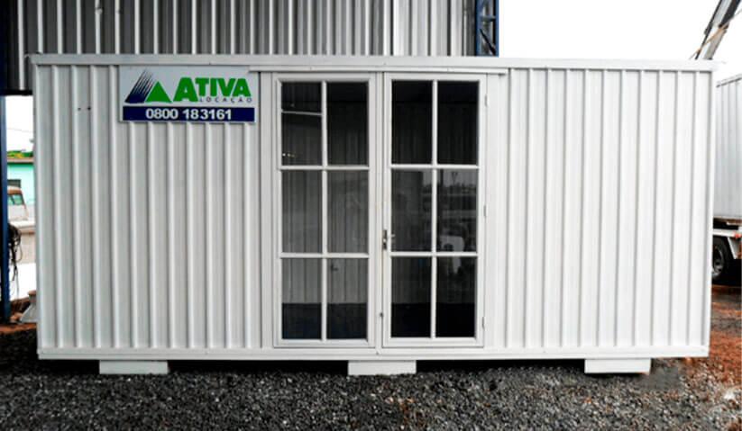 container stand de vendas, personalizado.